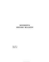 Minnesota History Bulletin : 1917 Aug. N... Volume Vol. 2 by