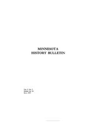 Minnesota History Bulletin : 1917 May : ... Volume Vol. 2 by