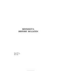 Minnesota History Bulletin : 1918 May No... Volume Vol. 2 by