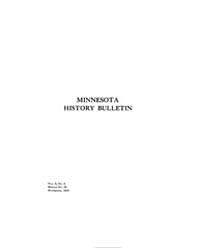 Minnesota History Bulletin : 1918 Nov. N... Volume Vol. 2 by
