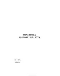 Minnesota History Bulletin : 1919 Aug. N... Volume Vol. 3 by
