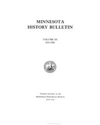 Minnesota History Bulletin : 1919 Feb. N... Volume Vol. 3 by