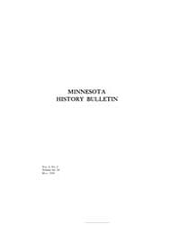 Minnesota History Bulletin : 1919 May : ... Volume Vol. 3 by