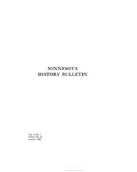 Minnesota History Bulletin : 1920 Aug. N... Volume Vol. 3 by