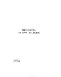 Minnesota History Bulletin : 1920 Feb. N... Volume Vol. 3 by