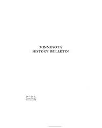 Minnesota History Bulletin : 1920 Nov. N... Volume Vol. 3 by