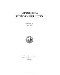 Minnesota History Bulletin : 1921 Feb. M... Volume Vol. 4 by