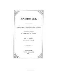 Mnemosyne : 1861 Pars 3, Vol. 10 Volume Vol. 10 by