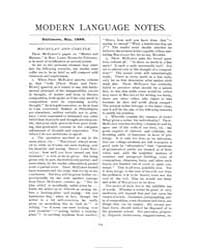 Modern Language Notes : 1888 May No. 5, ... Volume Vol. 3 by
