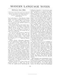 Modern Language Notes : 1894 Jun. No. 6,... Volume Vol. 9 by