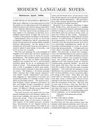 Modern Language Notes : 1900 Apr. No. 4,... Volume Vol. 15 by