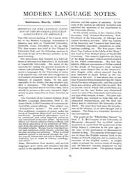 Modern Language Notes : 1900 Mar. No. 3,... Volume Vol. 15 by