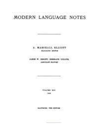 Modern Language Notes : 1906 Jan. No. 1,... Volume Vol. 21 by