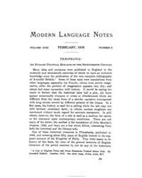Modern Language Notes : 1916 Feb. No. 2,... Volume Vol. 31 by