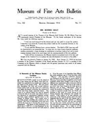 Museum of Fine Arts Bulletin : 1914 Dec.... Volume Vol. 12 by