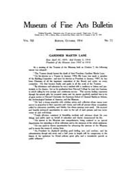 Museum of Fine Arts Bulletin : 1914 Oct.... Volume Vol. 12 by