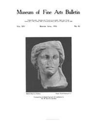 Museum of Fine Arts Bulletin : 1916 Apr.... Volume Vol. 14 by