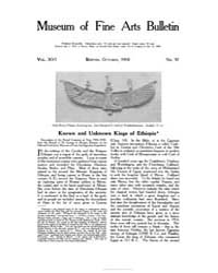Museum of Fine Arts Bulletin : 1918 Oct.... Volume Vol. 16 by