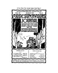 Music Supervisors' Journal : 1917 Mar. N... Volume Vol. 3 by