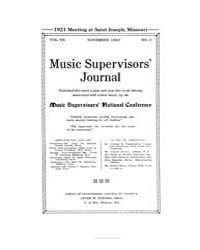 Music Supervisors' Journal : 1920 Nov. N... Volume Vol. 7 by