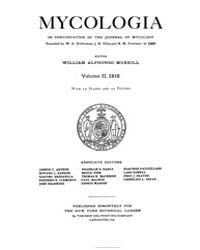 Mycologia : 1910 Jan. No. 1, Vol. 2 Volume Vol. 2 by