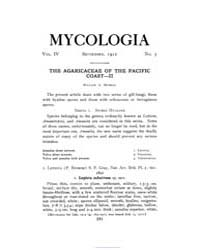 Mycologia : 1912 Sep. No. 5, Vol. 4 Volume Vol. 4 by