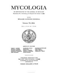 Mycologia : 1914 Jan. No. 1, Vol. 6 Volume Vol. 6 by
