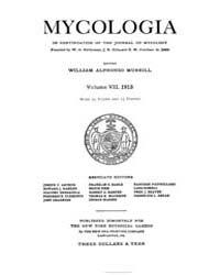 Mycologia : 1915 Jan. No. 1, Vol. 7 Volume Vol. 7 by
