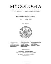 Mycologia : 1916 Jan. No. 1, Vol. 8 Volume Vol. 8 by