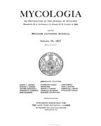 Mycologia : 1917 Jan. No. 1, Vol. 9 Volume Vol. 9 by