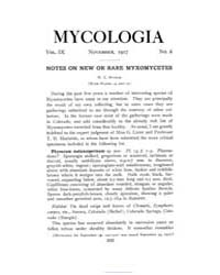 Mycologia : 1917 Nov. No. 6, Vol. 9 Volume Vol. 9 by