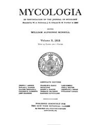 Mycologia : 1918 Jan. No. 1, Vol. 10 Volume Vol. 1 by