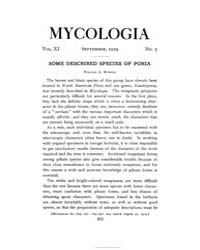 Mycologia : 1919 Sep. No. 5, Vol. 11 Volume Vol. 11 by
