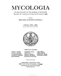 Mycologia : 1921 Jan. No. 1, Vol. 13 Volume Vol. 13 by