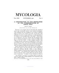 Mycologia : 1921 Nov. No. 6, Vol. 13 Volume Vol. 13 by