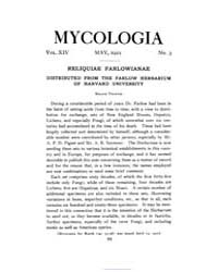 Mycologia : 1922 May No. 3, Vol. 14 Volume Vol. 14 by