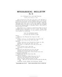 Mycological Bulletin : 1905 Dec. 15 No. ... Volume Vol. 3 by
