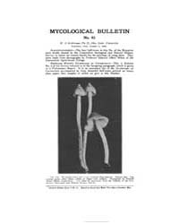 Mycological Bulletin : 1905 Oct. 1 No. 4... Volume Vol. 3 by