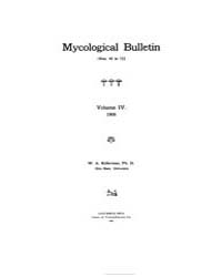 Mycological Bulletin : 1906 Jan. 1 No. 4... Volume Vol. 4 by