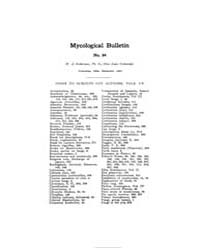 Mycological Bulletin : 1907 Dec. No. 84,... Volume Vol. 5 by