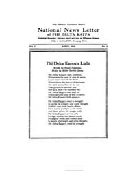 National News Letter of Phi Delta Kappa ... Volume Vol. 1 by