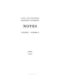 Notes (Fogg Art Museum) : 1922 Jun. No. ... Volume Vol. 1 by