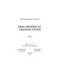 Philosophical Transactions (1665-1678) :... by