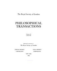 Philosophical Transactions (1683-1775) :... by