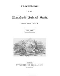 Proceedings of the Massachusetts Histori... by
