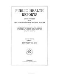 Public Health Reports 1896 1970 ; Volume... by