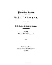 Rheinisches Museum Für Philologie : Neue... by