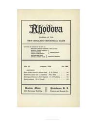 Rhodora ; Volume 22 : No 260 : August : ... by