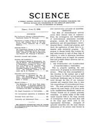 Science ; Volume 19 : No 494 : Jun 17 : ... by