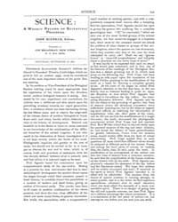 Science ; Volume 1 : No 12 : Sep 1880 by